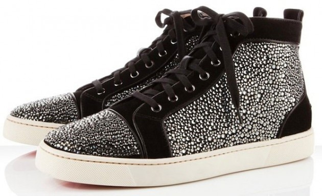 Christian Louboutin Louis Suede Sneakers black
