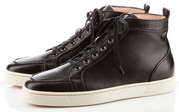 Christian Louboutin Rantus Orlato Black Leather Sneakers