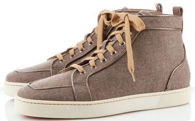 Christian Louboutin Rantus Orlato Flannel Tuape Sneakers