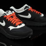 Nike Air Max 1 noir blanc orange