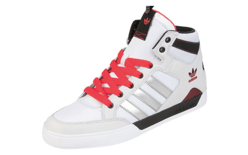 adidas Hardcourt Mid blanc-Metallic-rouge