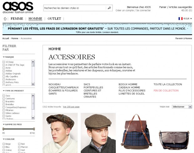 asos magasin mode en ligne fashion