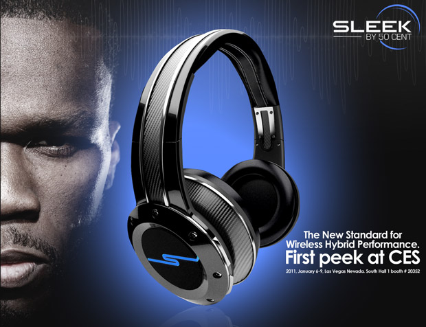 Casque audio Sleek par 50 cent