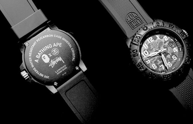 montre Stussy x BApe x Luminox