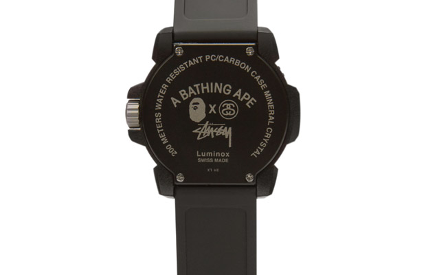 montre Stussy x a BAthing Ape x Luminox