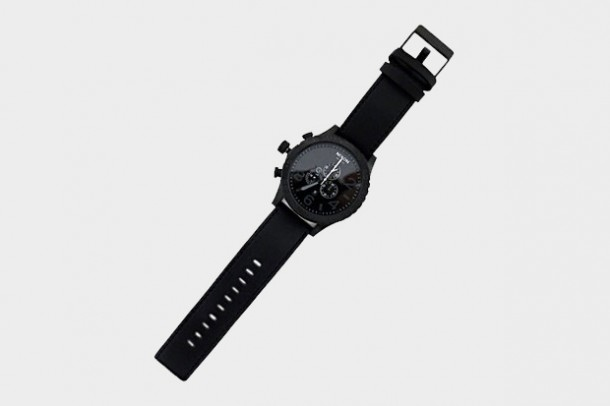 Montre NIXON 51-30 Chronograph Black Leather
