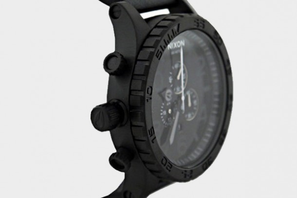 Montre NIXON 5130 Chronograph Black Leather