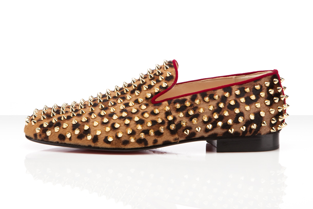 Louboutin Rollerboy Spikes Leopard