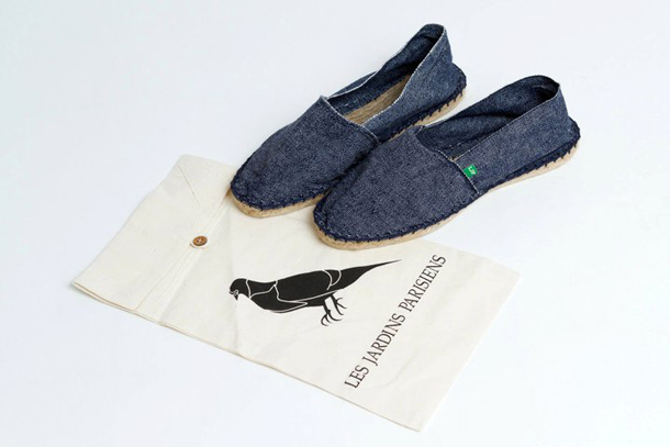 Les Jardins Parisiens - Collection n°3 - Espadrilles denim