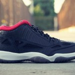 Air Jordan XI Retro Low - Black Varsity/Red