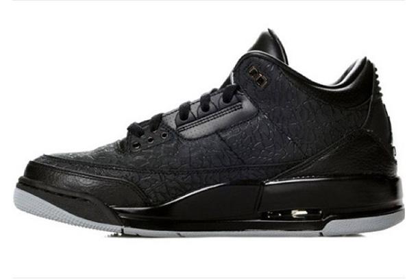 Air Jordan 3 Black Flip