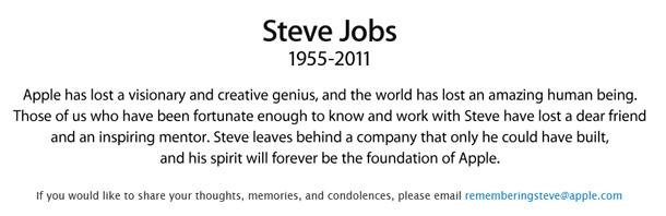 Décès Steve Jobs