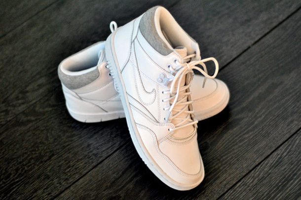 Nike Sky Force 88 Mid Cuir Blanc/Gris
