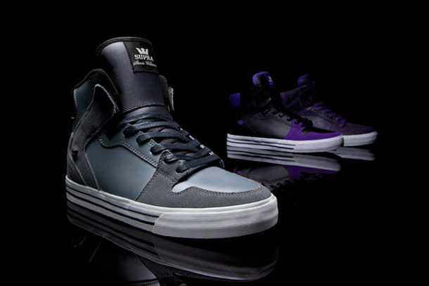 Stevie Williams x Supra Vaider Cuir Gris