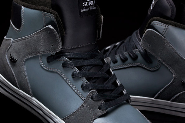 Stevie Williams x Supra Vaider - Grey leather dark grey suede