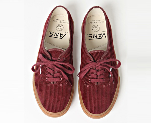 Vans Authentic x Beauty & Youth Garnet Velvet