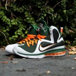 Nike Lebron 9 Miami Hurricanes Green/Orange