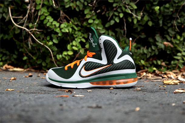 Nike Lebron 9 Miami Hurricanes Vert/Orange