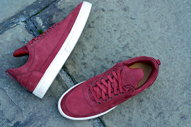 Filling Pieces Low Top Burgundy Suede