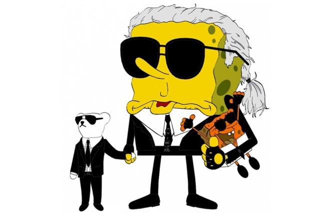 Bob l'éponge Karl Lagerfeld