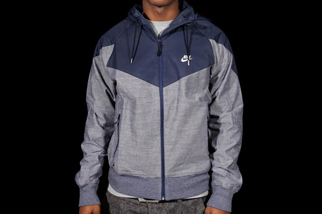 Nike Ru Chambray Superrunner Jacket Blue