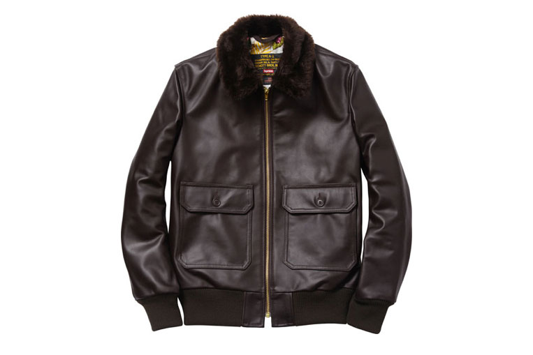 Schott NYC x Supreme Leather Flight Jacket (Alexandre Hoang)