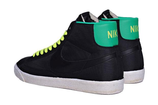 Nike Blazer Mid Nylon Noir/Jaune/Vert (Alexandre Hoang)