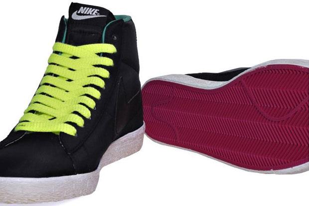 Nike Blazer Mid Vintage Nylon Noir/Jaune/Vert (Alexandre Hoang)