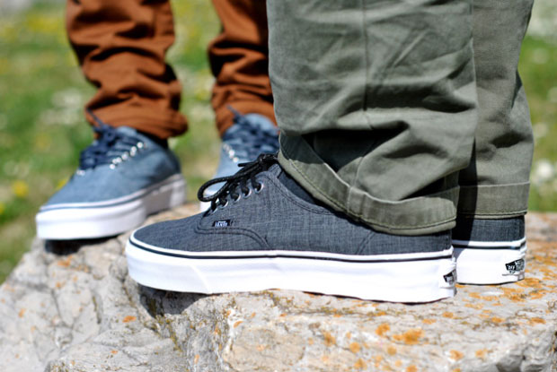 Vans Authentic Chambray Gris - Printemps 2012 (Alexandre Hoang)