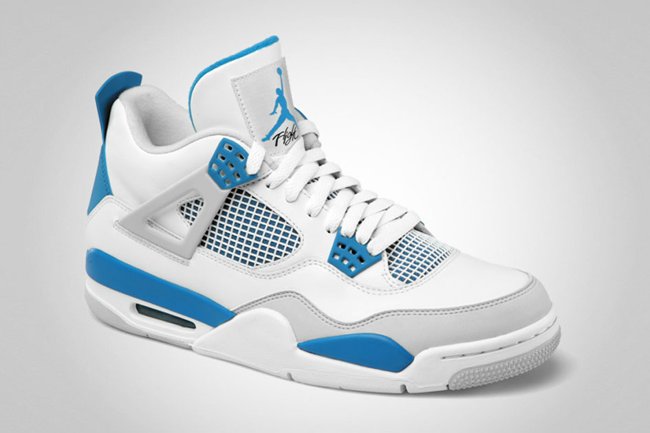 "Air Jordan 4 Retro ""Military Blue"" Retro 2012-2"