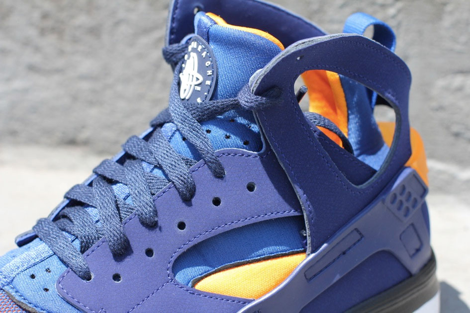 Nike Air Huarache BBall 2012 (Loyal Blue/Vivid Orange)-2
