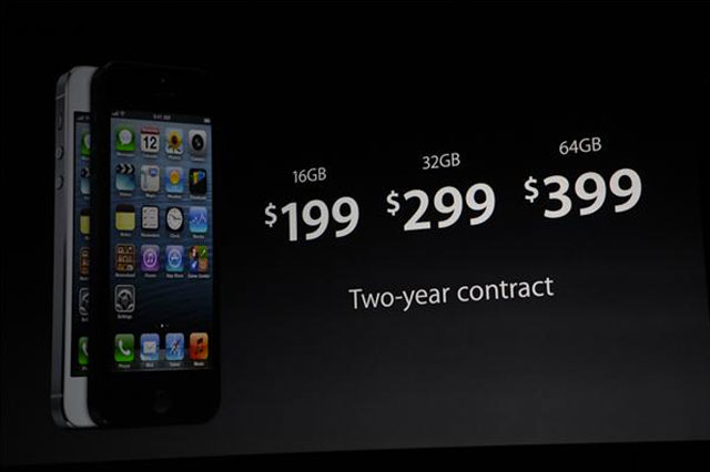 Prix Apple iPhone 5
